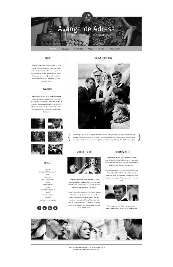 Avangarde web design by webvilla.deviantart.com