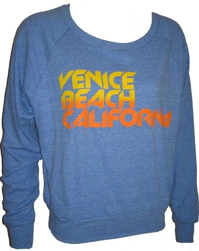 VENICE BEACH CALIFORNIA Ladies Raglan by UnknownArtistApparel