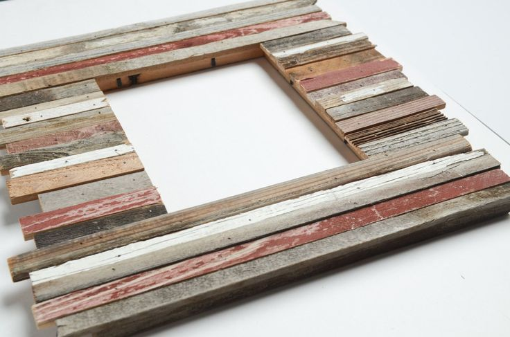 Frame fits an 16x20 print - FRAME DOES NOT COME WITH GLASS This beautiful reclaimed rustic picture frame is a mixture of bits and pieces of reclaimed wood. Different thickness and strips of wood that