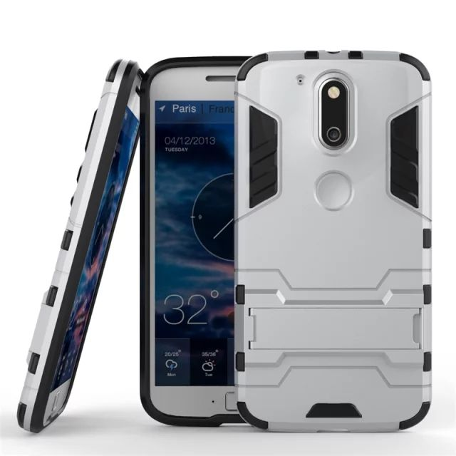 For Motorola Moto G4 / G4 Plus Case Heavy Duty Armor Shockproof Hybrid Hard Soft Silicone Rugged Rubber Phone Case Cover (