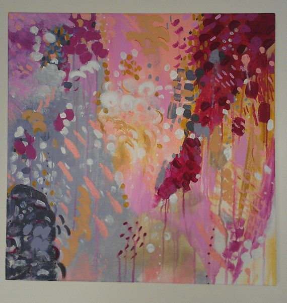 Original Large Abstract Acrylic Painting Titled Collette