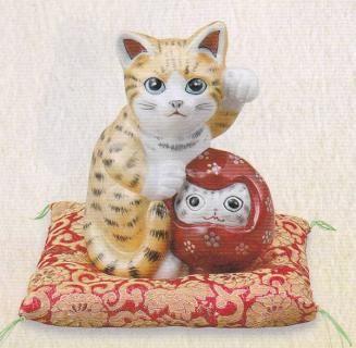 達磨 招き猫 九谷焼 - 画像検索