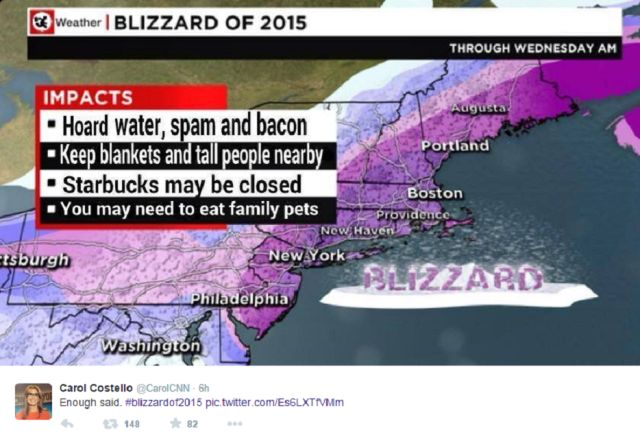 """Funny pics to make you smile during Snowmageddon.: The Best Of 2015's """"Juno"""" Blizzard Memes"""