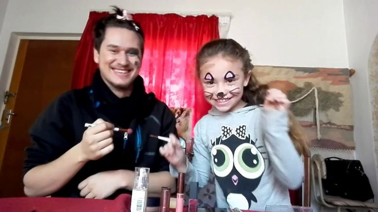 sister does brothers makeup!!