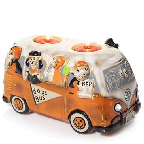 Boney Bunch Boos Bus Double (Lights Up!) : Votive Holder : Yankee Candle