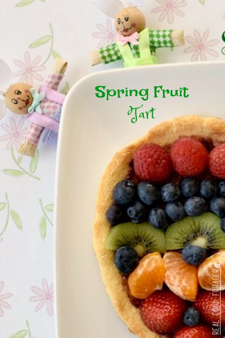 Grain Free Spring Fruit Tart. Whether you celebrate Easter or Passover, you are sure to love this simple Grain Free Spring Fruit Tart that is shaped like an egg