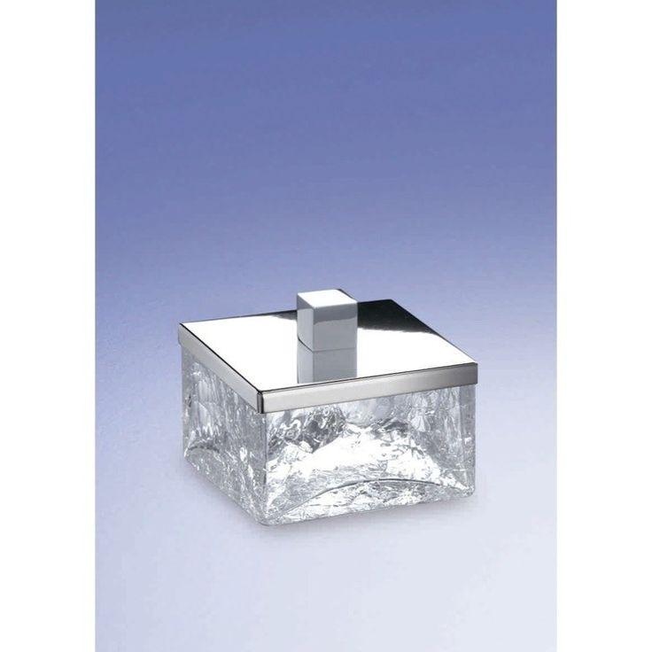 Windisch by Nameeks Windisch-88147-CR Crackled Glass Free Standing Bathroom Jar