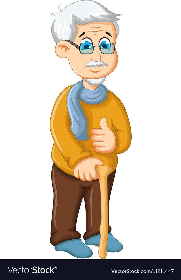 Old Man Cartoon : cartoon, Cartoon, Thumb, Royalty, Vector, Image, Cartoon,, Character, Design