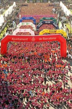 Carrera de la Mujer de Barcelona 2012. Central Lechera Asturiana es el principal patrocinador de la Carrera de la Mujer Central Lechera Asturiana.
