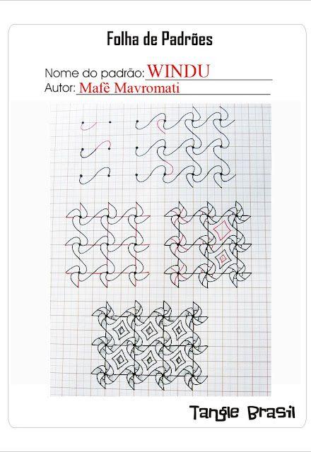 Windu Instructions- Step by Step to draw WINDU, my new tangle pattern.  Tangle Brasil- http://tanglebrasil.blogspot.com/search?updated-max=2011-03-14T13:42:00-07:00=7=42=false#axzz1poBR0qCF