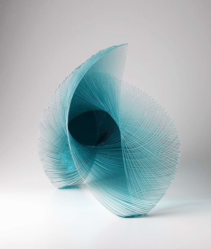 Artist Niyoko Ikuta Uses Layers of Laminated Sheet Glass to Create Spiraling Geometric Sculptures