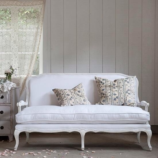 White Shabby Chic Bench Home Style Pinterest
