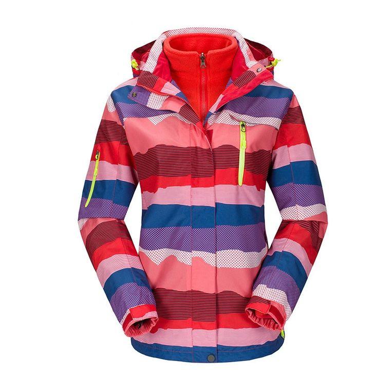 63.99$  Buy here - http://ali8ty.worldwells.pw/go.php?t=32762086653 - Plus Size ski jacket women windstopper snowboard jacket waterproof snow jackets plus fleece Mountaineer hiking ski suit  63.99$
