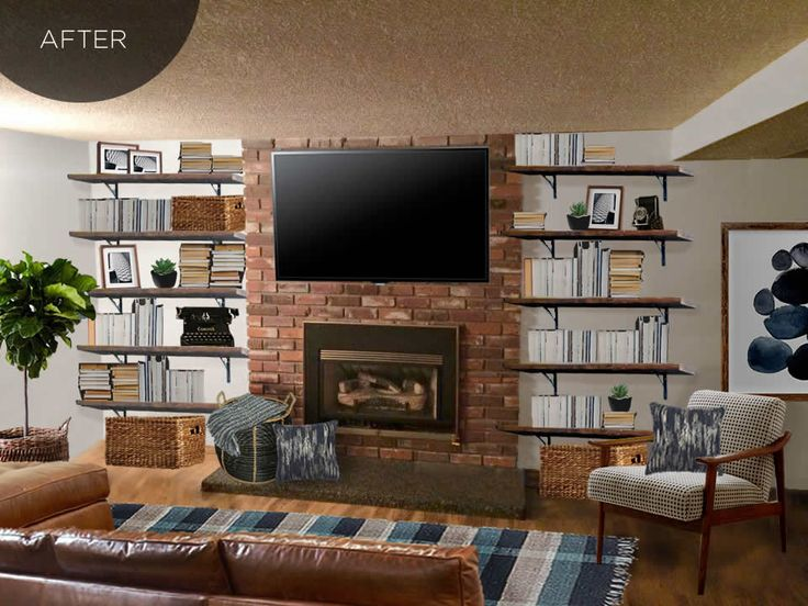 Designing A Masculine Living Room Space With The Tv Above
