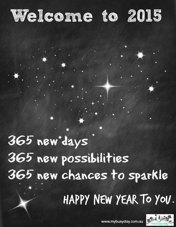 A new year is a gift filled with promise and possibility. Use it well!