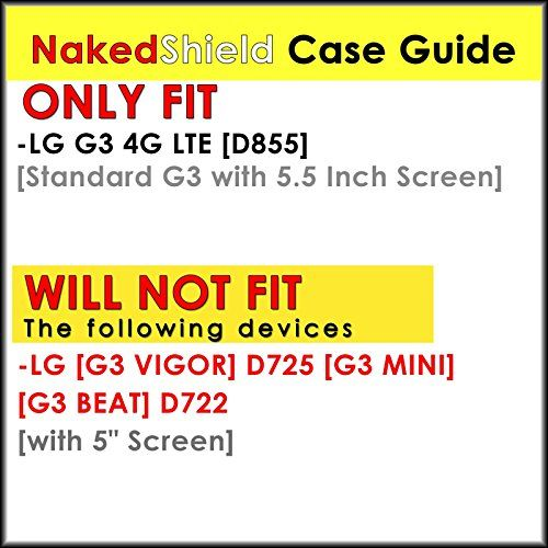 Buy LG G3 4G LTE [D855][Standard G3 with 5.5 Inch Screen] Case, [NakedShield] [Black/Black] Combat Tough SHOCK PROOF with KICKStand - [Flux Capacitor] for LG G3 [5.5 Inch Screen] 4G LTE [D855] NEW for 12.89 USD | Reusell