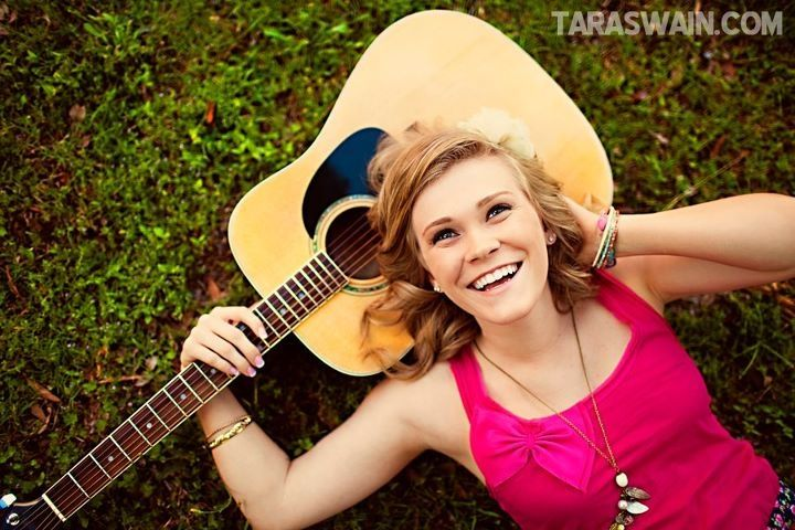 Senior Portrait Prop Inspiration - fun guitar shot