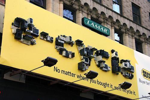 ベストバイ、家電リサイクル推進の看板広告  |  AdGang