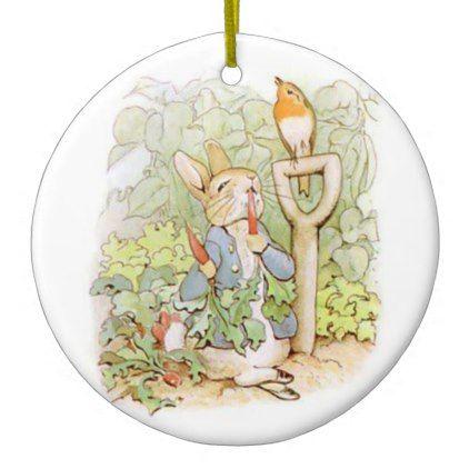 #Fairy Tale Rabbit No. 1 Ceramic Ornament - #Xmas #ChristmasEve Christmas Eve #Christmas #merry #xmas #family #holy #kids #gifts #holidays #Santa