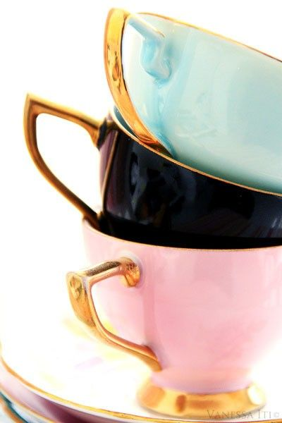.Beautiful, elegant teacups
