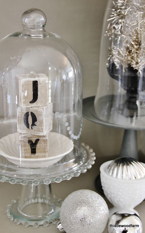 """JOY cloche @Deb Keller Farm ... my Sis Odie has these all over her house and I just now realized what they are called """"cloche"""""""