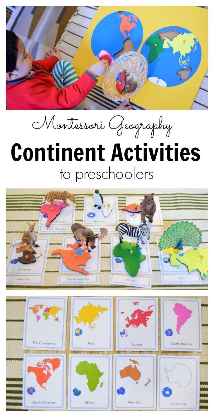 Continent activities for preschoolers (Montessori)