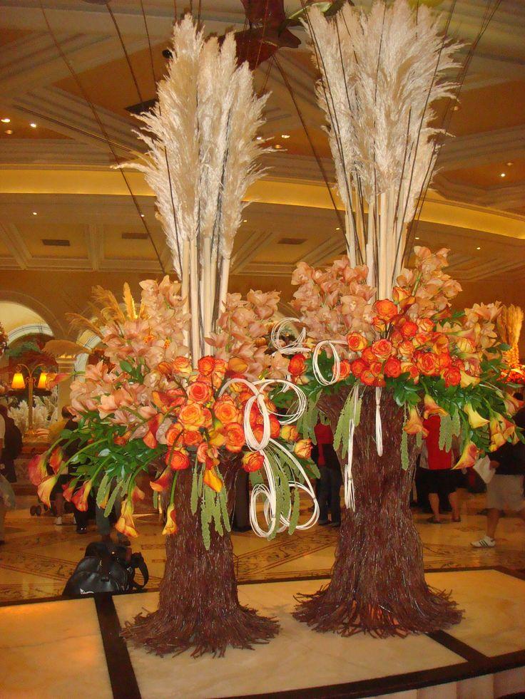Fall wedding flower arrangement creative way for a