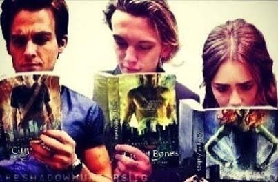 It's the character they play HAHahaha  ~ Except for Kevin, it's Sebastian on the cover of City of Glass