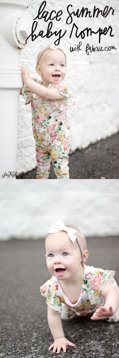 This post is sponsored by Fabric.com! Summer is coming and that means it's ROMPER season! I like long pants on rompers so I don't have to worry about sunburns on cute baby legs! So I made this cute little lace romper with 2 sleeve options in either pants or shorts! Fabric.com has so many lace …