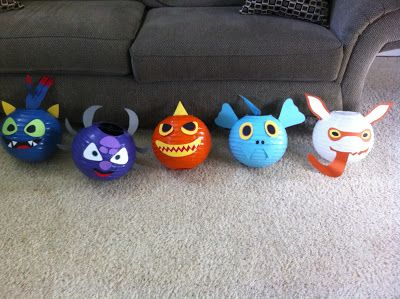 Skylander Party Decorations....my son would LOVE these and they can be used in his room after his party!