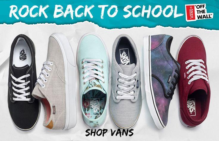 Rule back to school | Shop Vans now! #MyRackRoomShoes