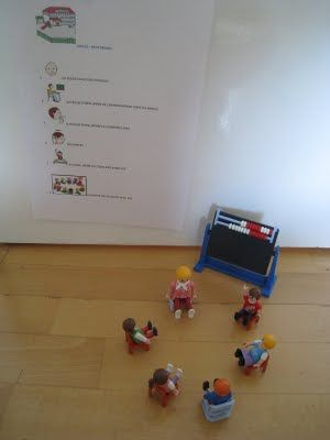 Autismus Arbeitsmaterial: Schule - Morgenrunde
