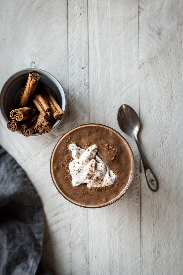 Cold Brew Chocolate & Cinnamon Shake with Coconut Whipped Cream