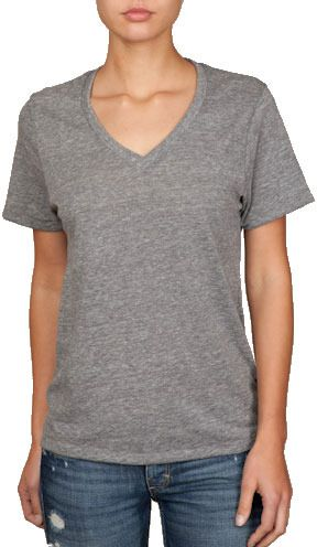 $28, Alternative Apparel Alternative Unisex Boss Eco Heather V Neck Tee. Sold by EssentialApparel.com. Click for more info: https://lookastic.com/women/shop_items/26337/redirect