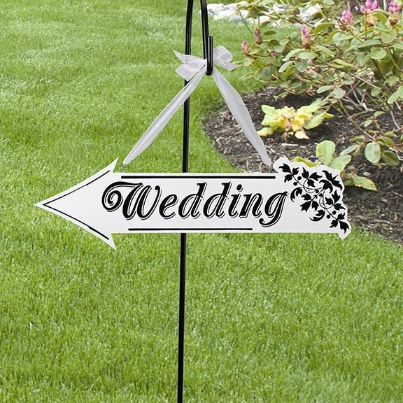 Gems Wedding Supplies - Wooden Wedding Ceremony Arrow Sign, $40.00 (http://www.gemsweddingsupplies.com.au/wooden-wedding-ceremony-arrow-sign/)