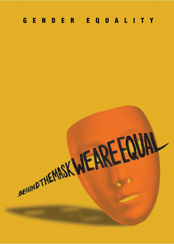 gender equality psa posters by anjali menon via behance 39 14 design pinterest behance. Black Bedroom Furniture Sets. Home Design Ideas