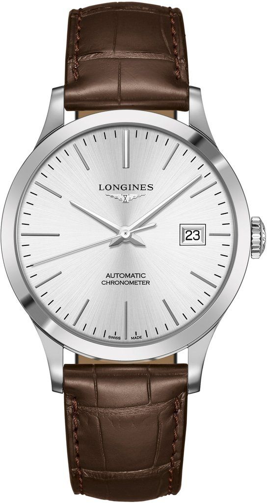 002f7ac2d27 Longines Watch Record Mens  add-content  bezel-fixed   bracelet-strap-alligator  brand-longines  case-material-steel   case-width-40mm  cosc-yes  cws-upload ...