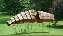 Houten sculptuur.