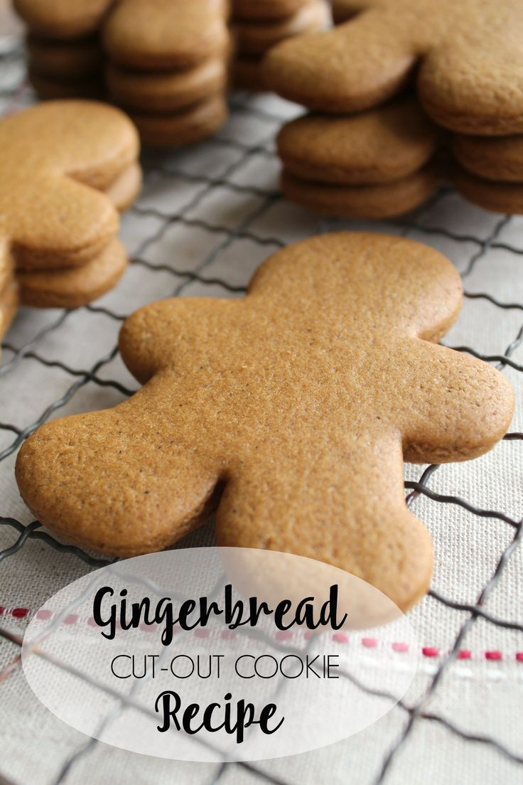Traditional gingerbread cut-out cookies. Rich, spicy, and perfect for Christmas!