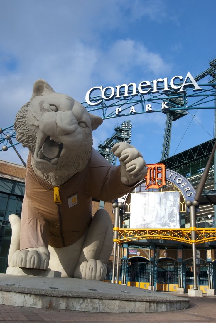 Detroit's Comerica Park - my name is welded inside the neon sign! ;)