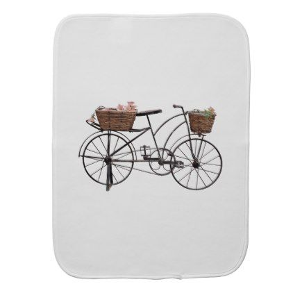 Antique bicycle baby burp cloth - antique gifts stylish cool diy custom