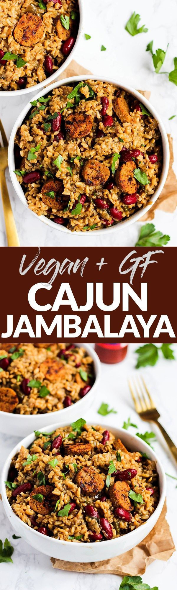 Serve this Classic Cajun Vegan Jambalaya to a crowd as a comforting, one-pot meal that will impress everyone! Authentic, simple & so full of Creole flavor. (gluten-free) @pompeian #TrendingintheKitchen #ad