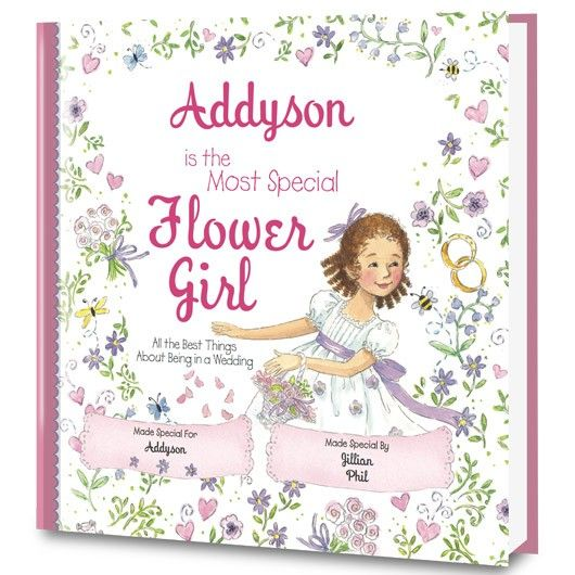 Personalized Flower Girl Book | Flower Girl Book | Put Me In The Story