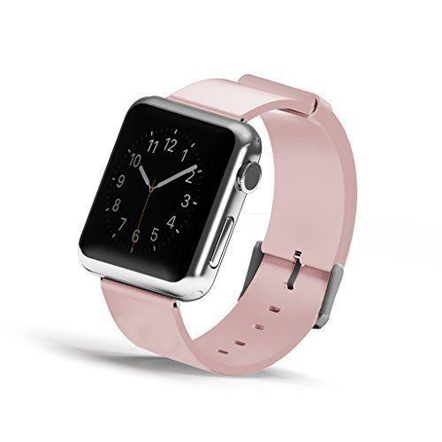 Apple Watch Band, Wearlizer Genuine Leather Watch Strap Replacement w/ Metal ... #Wearlizer
