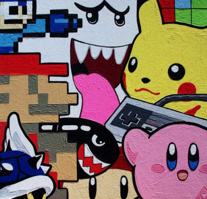 Nintendo cartoon art