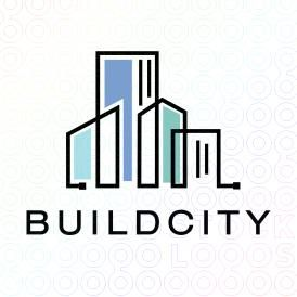 Exclusive Customizable City Skyline Logo For Sale: Build City | StockLogos.com