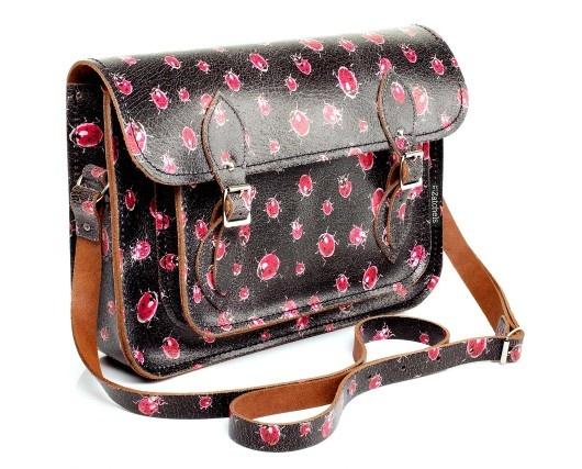 Lady bugs: Leather Satchel, Gorgeous Bags, Ladybugs Crack, Crack Leather, Bugs Theme, Prints, Ladies Bugs