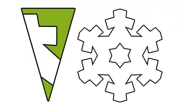 Copos de nieve de papel - Modelo 4