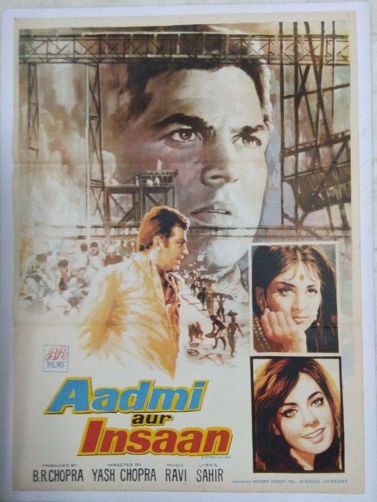 INDIAN VINTAGE OLD BOLLYWOOD MOVIE POSTER-AADMI AUR INSAAN /DHARMENDRA MUMTAZ   Entertainment Memorabilia, Movie Memorabilia, Posters   eBay!