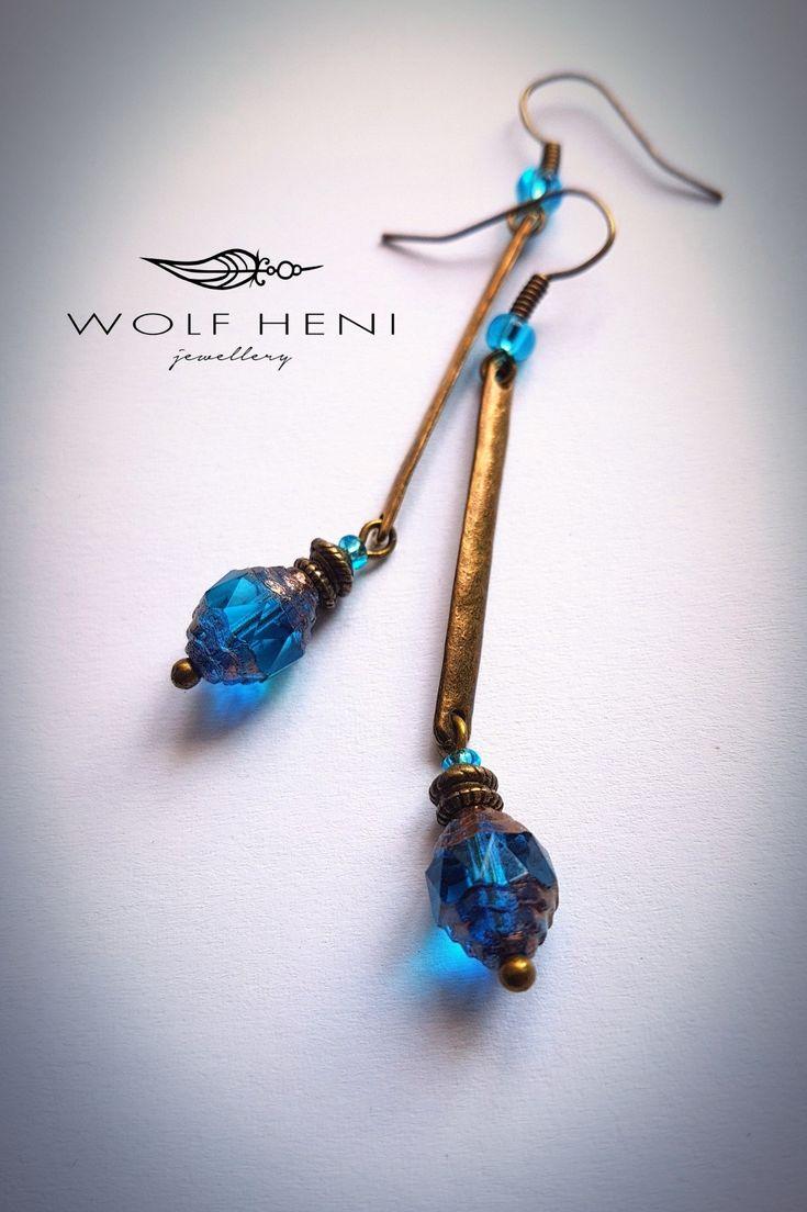 Katedrális  #wolfheni #jewellery #handmade #earring #czechglassbeads